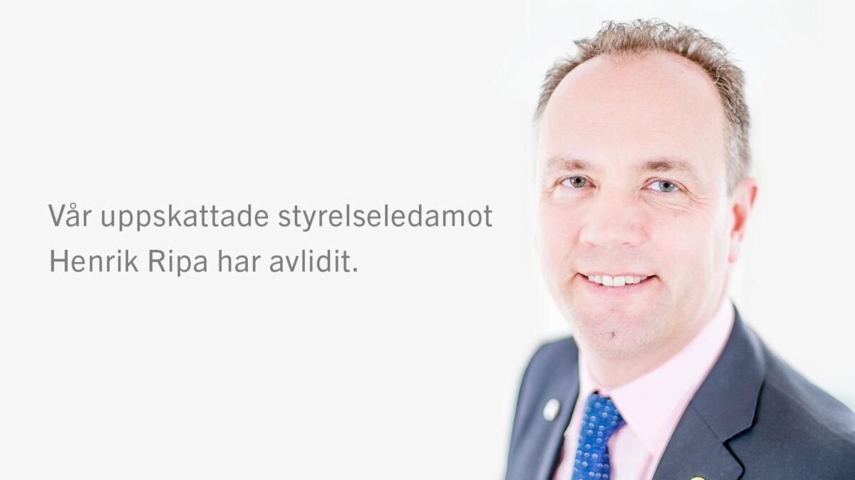 Henrik Ripa har avlidit
